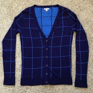 Merona Blue Cotton Cardigan, Size Medium.